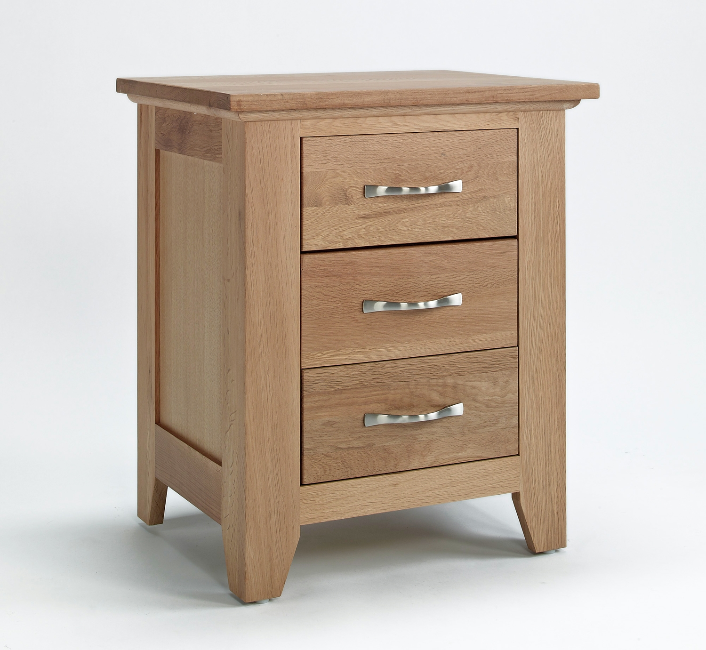 Sherwood Oak 3 Drawer Bedside Chest