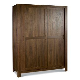 Lyon Walnut Sliding Door Triple Wardrobe