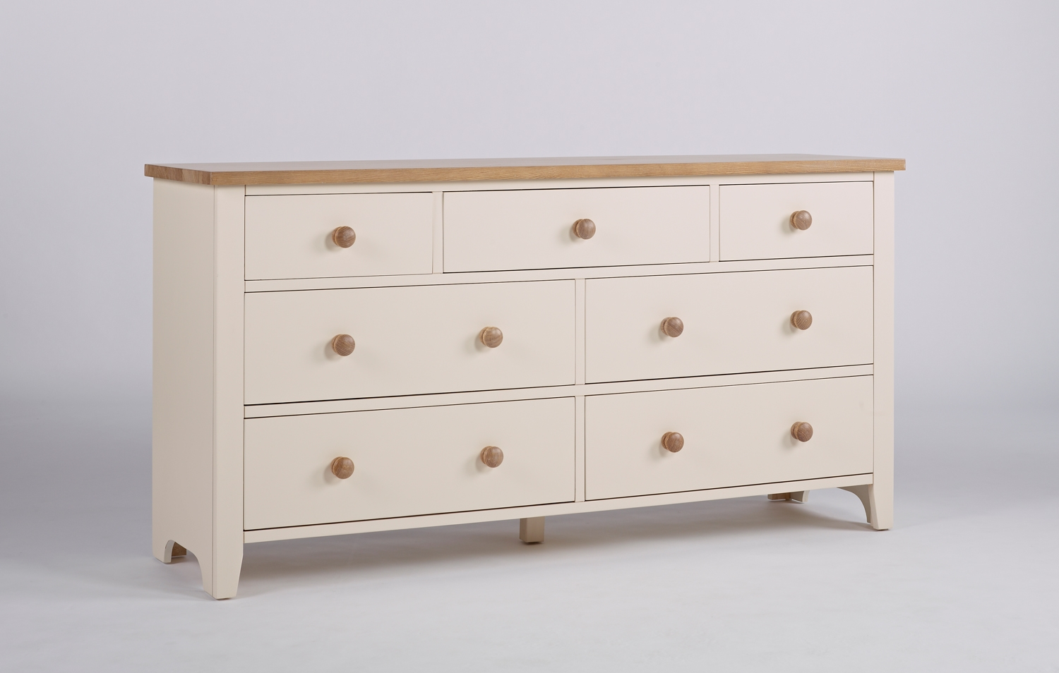 Camden Painted Pine & Ash 3 over 4 Chest of Drawers