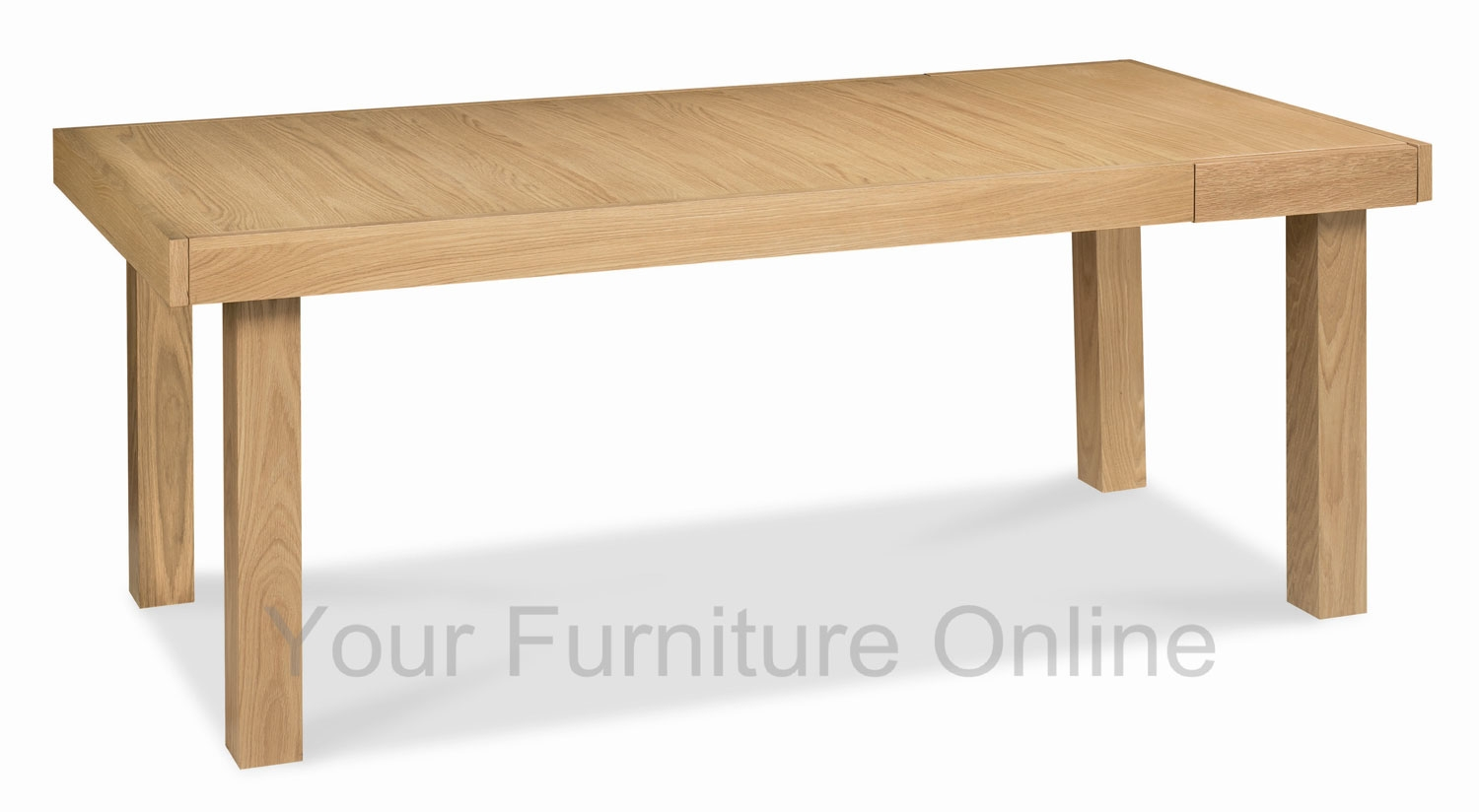 Osaka oak 6 8 end extension dining table for Extension dining table