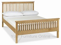 Atlanta Oak High Footend Bedstead - 90cm - Single - 122cm - Small Double, 135cm - Double & 150cm - King Size