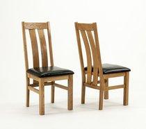 Devon Oak Arizona Chairs - Pair