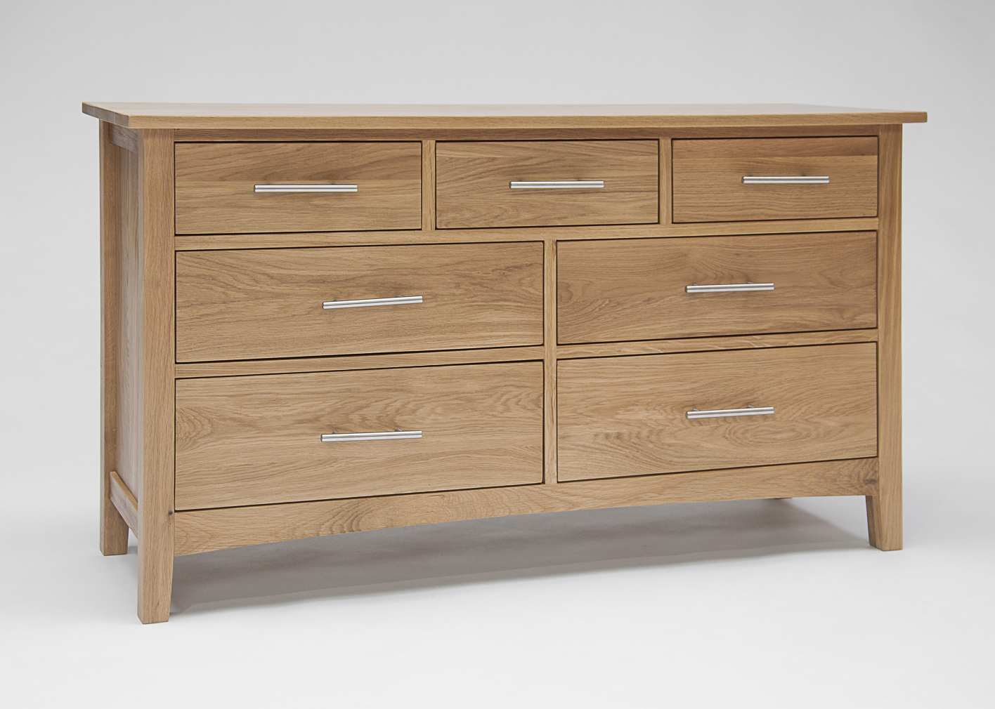 Hereford Oak 3+4 Wide Chest of Drawers