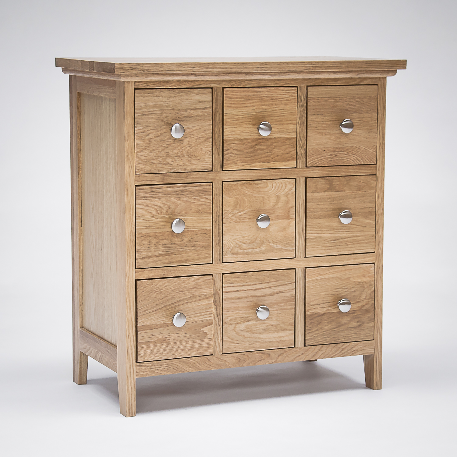 Sherwood Oak DVD/CD Storage Cabinet - 9 Drawers (Sherwood Oak DVD/CD Storage Cabinet - 9 Drawers - N